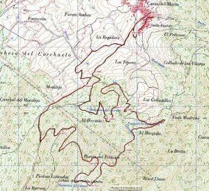 Mapa VII Subida a Campanarios 16